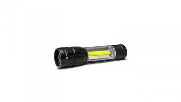 Latarka aluminiowa LED COB 160+60lm SP0401