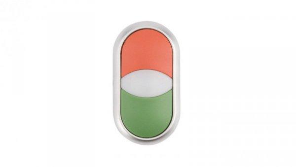 Napęd przycisku podwójny zielony/czerwony z podświetleniem z samopowrotem M22-DDL-GR 216698