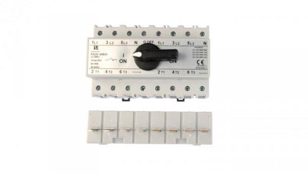 Przełącznik sieć-agregat 80A 3P+N (biegun N nierozłączalny) PRZK-3080NW02