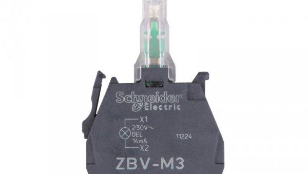 Zestaw świetlny z diodą LED zielony 230-240V AC ZBVM3