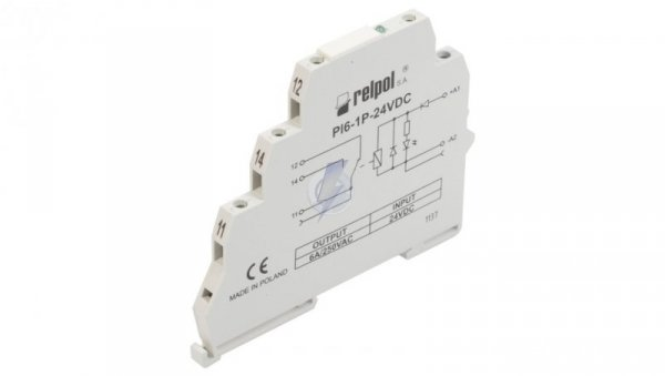 Przekaźnik interfejsowy 1P 12A 24V DC AgSnO2 PI6-1P-24VDC (SZARE) (CE) 858550