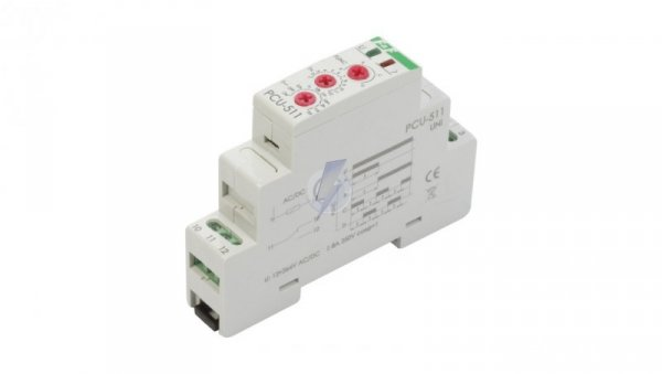 Przekaźnik czasowy 1P 8A 0,1sek-576h 12-264V AC/DC wielofunkcyjny PCU-511UNI