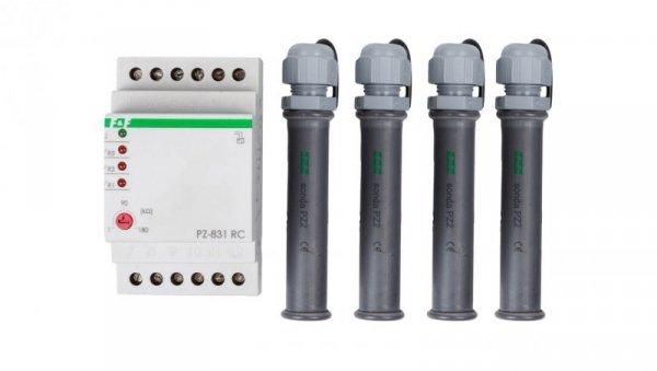 Przekaźnik kontroli poziomu cieczy 8A 3Z 1-180kOhm z regulacją czułości PZ-831RC