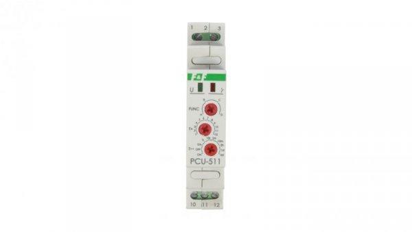 Przekaźnik czasowy 1P 8A 0,1sek-576h 230V AC wielofunkcyjny PCU-511