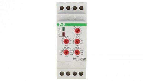 Przekaźnik czasowy 2P 8A 0,1sek-576h 230V AC wielofunkcyjny PCU-520