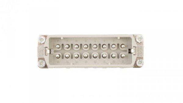 Wkład złącza 16P+PE męski 16A 250V EPIC H-A 16 SS 10530000