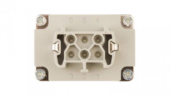 Wkład złącza 6P+PE żeński 16A 500V EPIC H-BE 6 BS 10191000