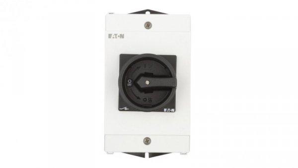 Łącznik krzywkowy 0-1 3P 25A 1Z 1R w obudowie IP65 P1-25/I2/SVB-SW/HI11 207295