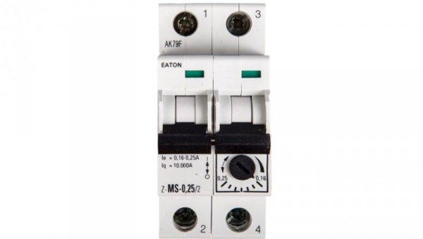Wyłącznik silnikowy 2P 0,06kW 0,16-0,25A Z-MS-0,25/2 248390