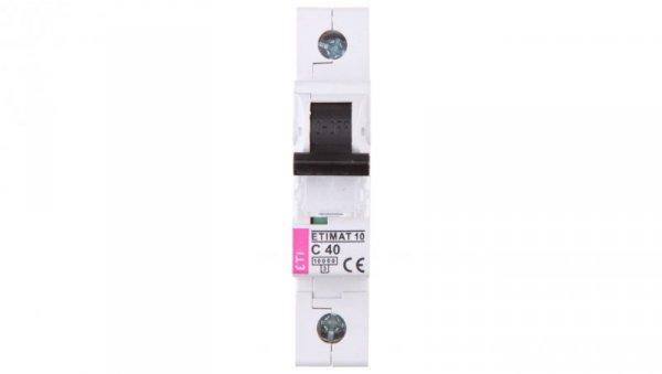 Wyłącznik nadprądowy 1P C 40A 10kA AC ETIMAT10 002131720