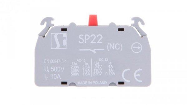 Styk pomocniczy 1R montaż czołowy SP2201-1