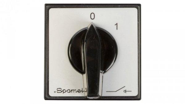 Łącznik krzywkowy 0-1 4P 16A do wbudowania ŁK16R-2.8210P03