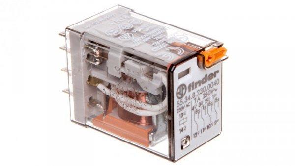 Przekaźnik miniaturowy przemysłowy 4P 7A 250V AC AgNi 55.34.8.230.0040