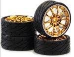 Koła Low Profil Worm Gold Chrome   Ansmann Racing 4 szt.