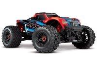 TRAXXAS Maxx 4WD VXL 4S 1/10 + TSM (Czerwony X) BEZSZCZOTKOWY