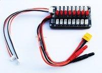 Adapter do ładowarki - równoległe ładowanie do 8 akumulatorów 2S / 3S - JST DIODY LED 8x JST PARALLEL BOARD