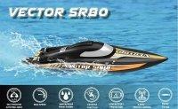 Motorówka RC Vector SR80 RTR bezszczotkowa samoodwracająca się (80 cm długości)