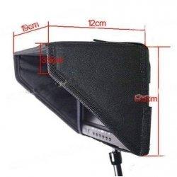 Osłona na monitor 7 cali - przeciwsłoneczna osłona na monitor 7