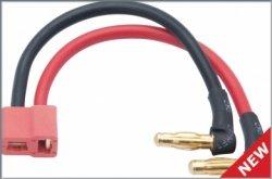Adapter typu Banan 4 mm - Dean kątowy - wyjscie kabli pod kątem 90 stopni