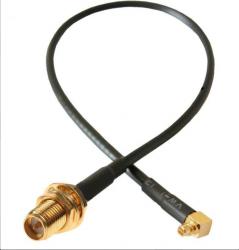 Przejście - RP-SMA jack na MMCX - adapter prosty z przewodem 100mm