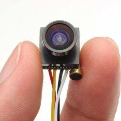 Kamera płytkowa micro FPV CMOS 600TVL HD - (waga 3 gramy) - obiektyw 1,8mm szeroki kąt 170st