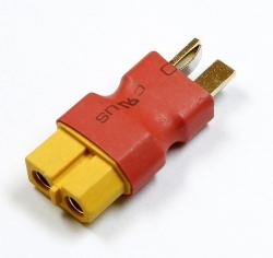 Przejście - wtyki DEAN (męskie)- XT60 (żeńskie) - krótkie - do akumulatorów