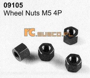 Wheel nuts M5 4P
