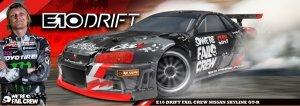 HPI RTR E10 DRIFT FAIL CREW NISSAN SKYLINE R34 GT-R