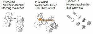 Steering mount/Rear shaft mount/Ball ... - Ansmann Virus
