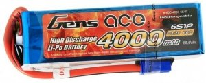 4000mAh 22.2V 60C Gens Ace