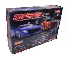 Zestaw Slot Cars Superior 502 1:43 - 765cm, 2 pętle, ściana, cyfrowy licznik, 240V