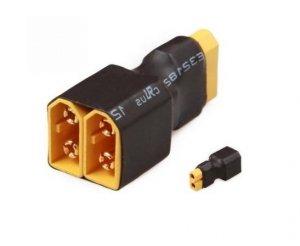 Przejście - XT60 (żeńskie) na 2xXT60 (meskie) - do równoległego łączenia akumulatorów