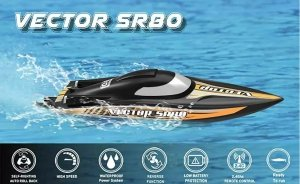 Motorówka RC Vector SR80 PNP bezszczotkowa samoodwracająca się (80 cm długości)