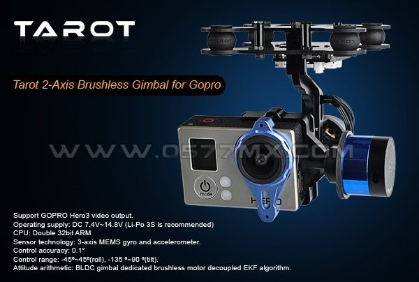 Gimbal 2-osiowy bezszczotkowy do GoPro - FYTL68A00 - TAROT