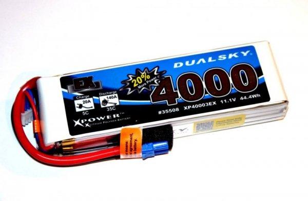 AKUMULATOR LI-PO Dualsky 4000 mAh 35C/5C 11.1V