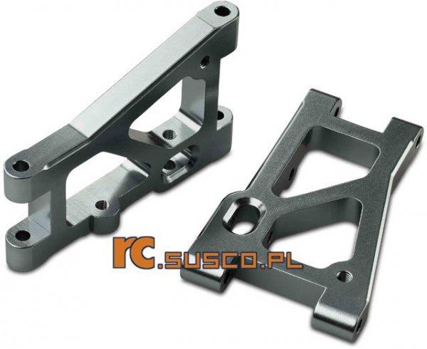 Aluminiowe ramiona zawieszenia. Tył/dół.