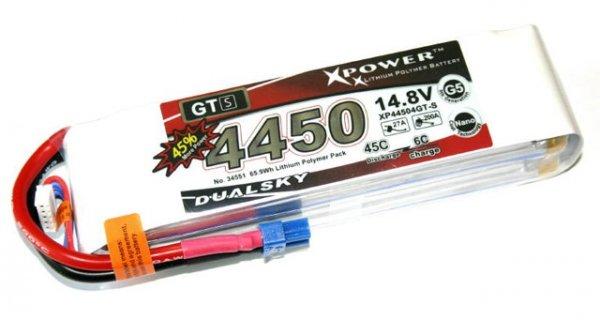Akumulator Dualsky 4450 mAh 45C/6C 14.8 V 4s
