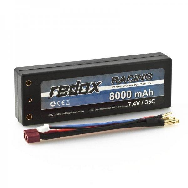 Redox RACING 8000 mAh 7,4V 35C Hardcase - samochodowy pakiet LiP