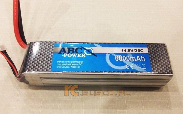 Akumulator ABC-POWER 6000mAh 4S 35C - wtyk XT60 - Li-pol 14,8V N