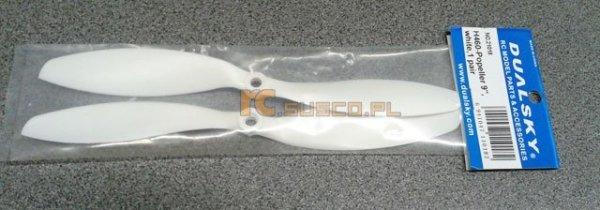 Dualsky - śmigła 9x4.7 komplet białe LEWE + PRAWE