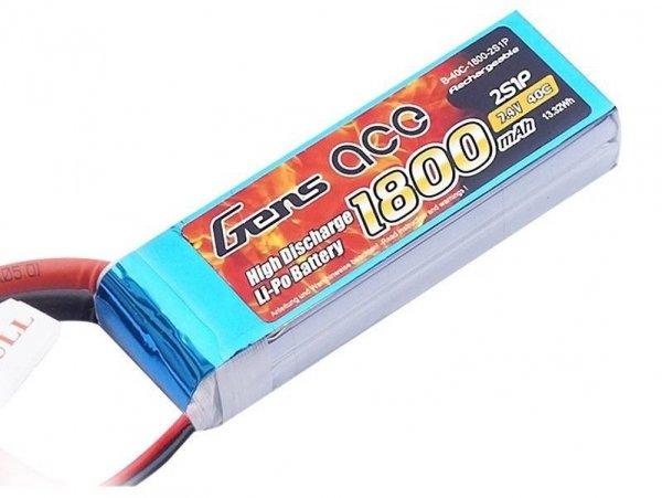 1800mAh 7.4V 45C XT60 Gens Ace