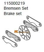 Brake set - Ansmann Virus