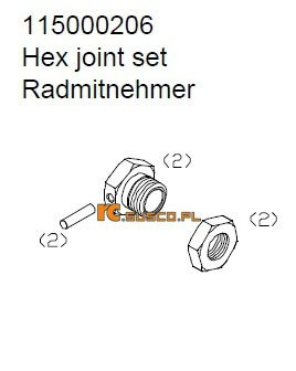 Hex joint set - Ansmann Virus