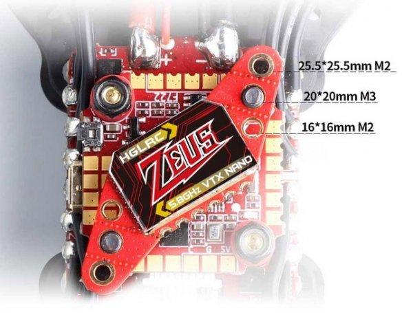 Nadajnik FPV VTX HGLRC Zeus nano VTX 25-350mW 16x16 20x20 25.5x25.5 mm For FPV Racing Drone