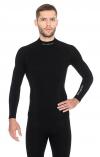 BRUBECK LS11920 bluza Merino EXTREME WOOL czarna