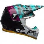 BELL KASK OFFROAD MOTO-9 FLEX SEVEN ZONE BLACK/AQU