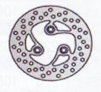 NG727 TARCZA HAMULCOWA SKUTERY (180x40,6x3,5)