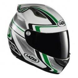 Kask motocyklowy LAZER OSPREY Genius biały/zielony