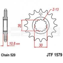 Zębatka przednia JT F1579-16, 16Z, rozmiar 520 2201029 Yamaha YZF-R1 1000