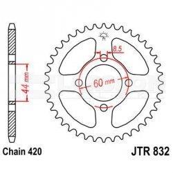 Zębatka tylna stalowa JT 832-52, 52Z, rozmiar 420 2300096 Yamaha DT 50
